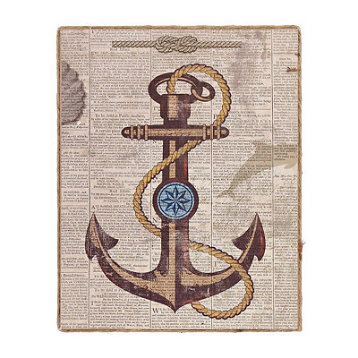 Anchor Newsprint I Framed Art Print