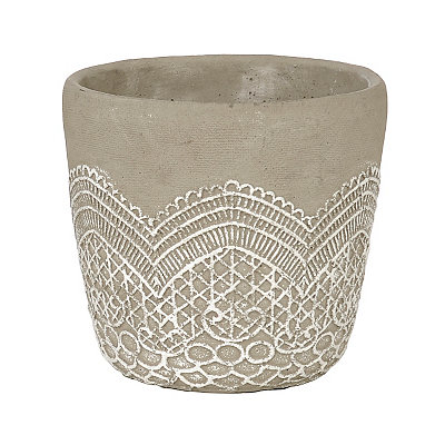 Etched Lace Planter