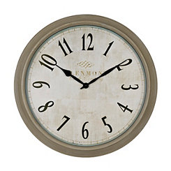Farmhouse Gray Clock