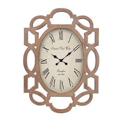Maggie Scalloped Wood Clock
