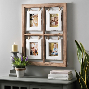 natural hanging window pane collage frame kirklands - Windowpane Picture Frame