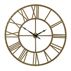 Addison Champagne Open Face Clock, 45 in.