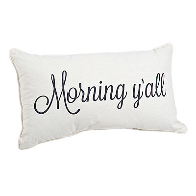 Good Morning Y'all Reversible Pillow