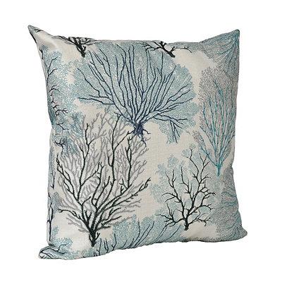 Aqua Coral Pillow