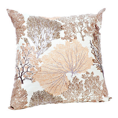Tan Coral Pillow