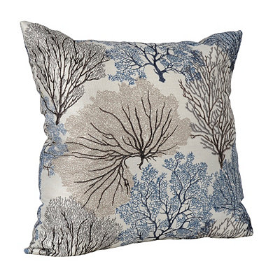 Navy Coral Pillow