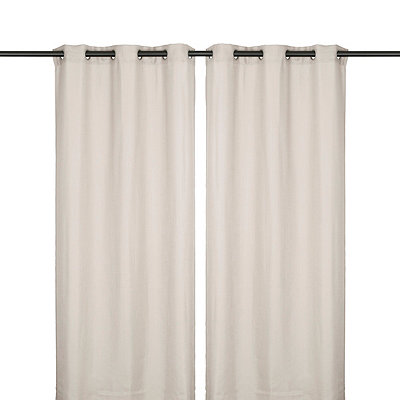 Dove Gray Jakarta Curtain Panel Set, 84 in.