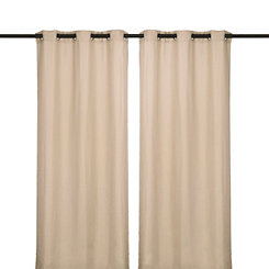 Oyster Jakarta Curtain Panel Set, 84 in.