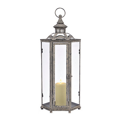 Dark Gray Hexagonal Lantern