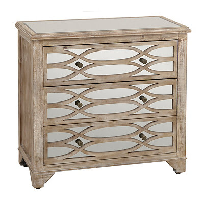 Lillian Mirrored 3-Drawer Chest