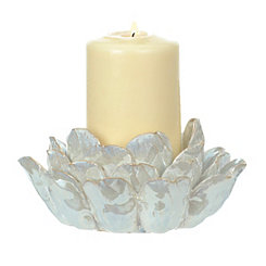 Ivory Lotus Flower Candle Holder