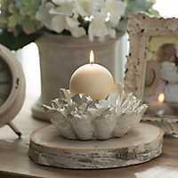 Ivory Lotus Flower Candle Holder