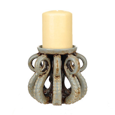 Blue Octopus Candle Holder