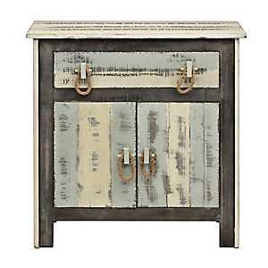 Distressed Coastal 1-Drawer Cabinet
