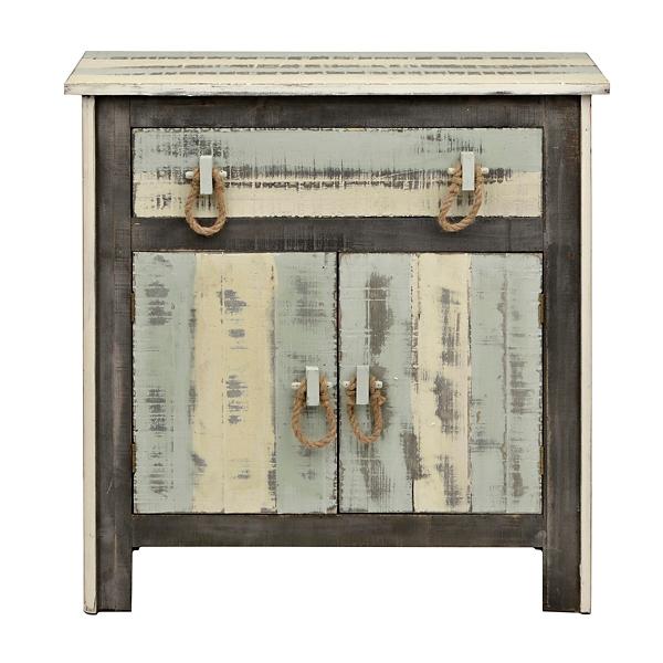 Distressed Coastal 1 Drawer Cabinet