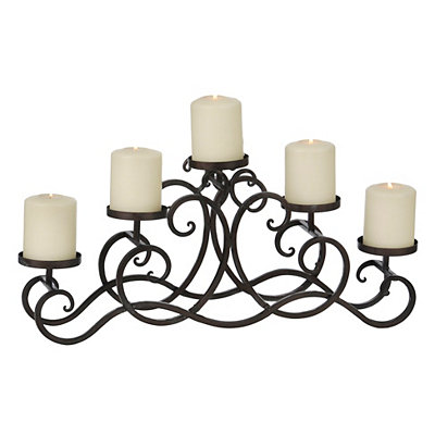 Gunmetal Pillar Candle Runner