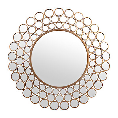 Elena Gold Circles Mirror, 31 in.