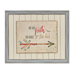 Faith Arrow Framed Art Print