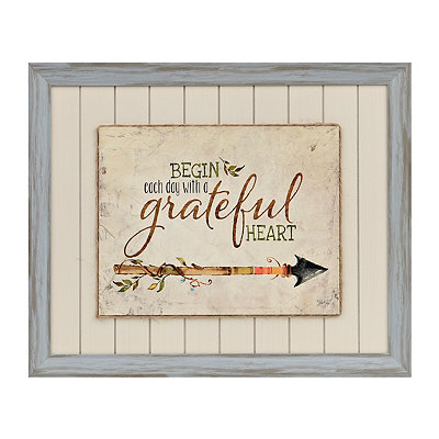 Grateful Arrow Framed Art Print