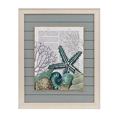 Coastal Newsprint II Framed Art Print