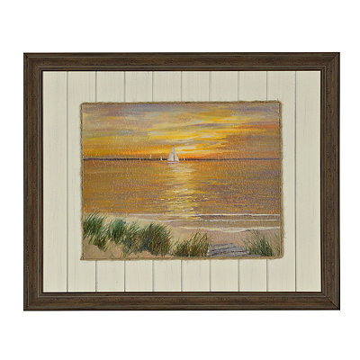 Coastal Sunset I Framed Art Print