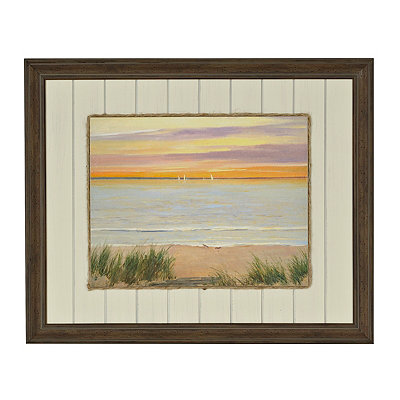 Coastal Sunset II Framed Art Print
