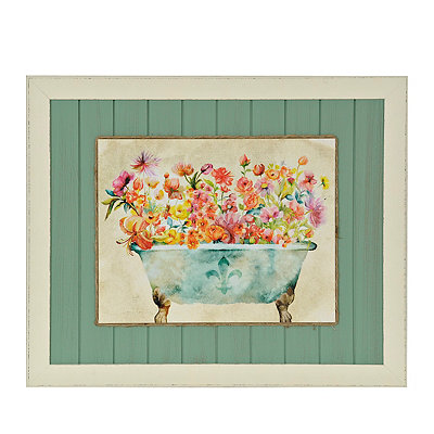 Garden Bath I Framed Art Print