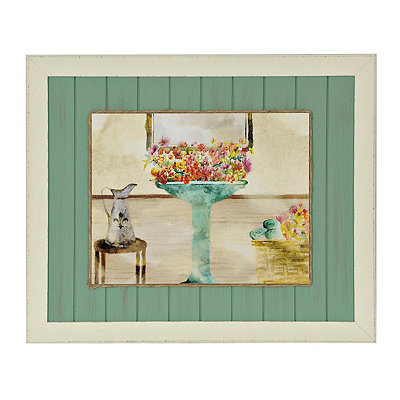 Garden Bath II Framed Art Print