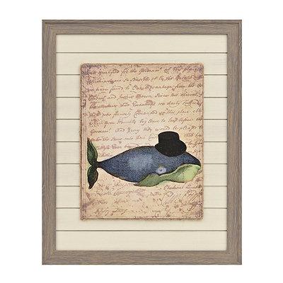 Vintage Whale Framed Art Print