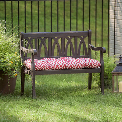 Distressed Black Wooden Bench
