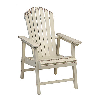 Distressed White Adirondack Chair