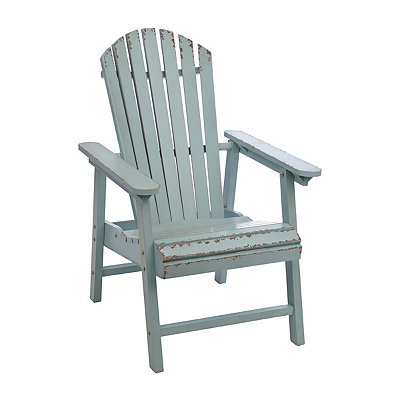 Distressed Blue Adirondack Wooden Chair