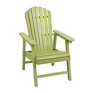 Distressed Green Adirondack Wooden Chair