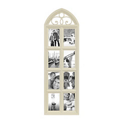 Cream 8-Opening Arch Collage Frame