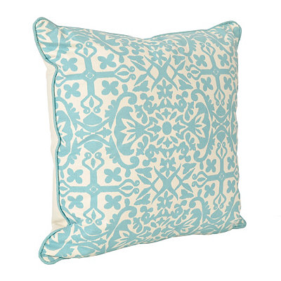 Aqua Madrid Pillow