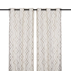 Gray Avalon Curtain Panel Set, 108 in.