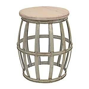 Woven Metal Accent Table