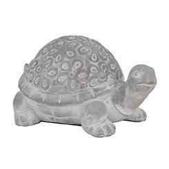 Embossed Floral Turtle Statue