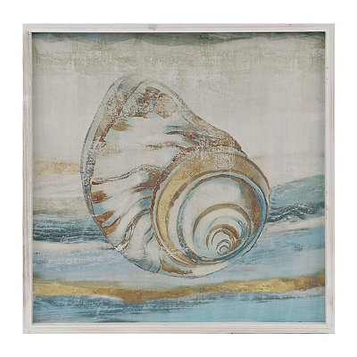 Golden Shells I Framed Art Print