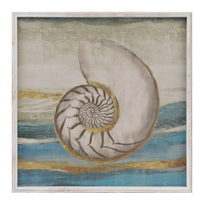 Golden Shells II Framed Art Print