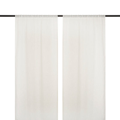 Belgian Snowflake Curtain Panel Set, 84 in.