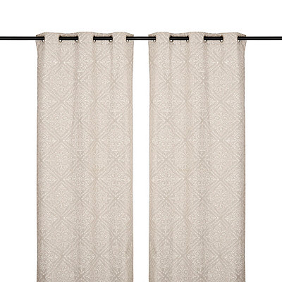 Natural Sira Curtain Panel Set, 84 in.