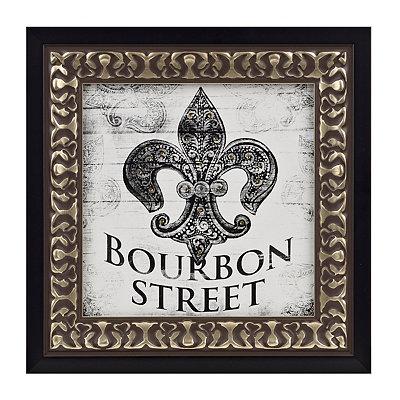 Bourbon Street Fleur-de-Lis Framed Art Print