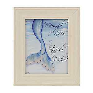 Mermaid Kisses Framed Art Print
