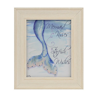 Mermaid Kisses Framed Art Print