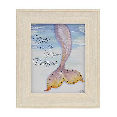 Never Let Go Mermaid Framed Art Print