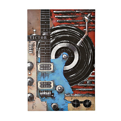 Blue Guitar Canvas Art Print