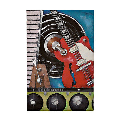 Red Guitar Canvas Art Print