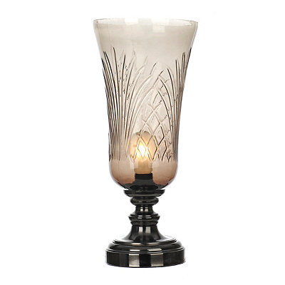 Etched Smoked Glass Uplight