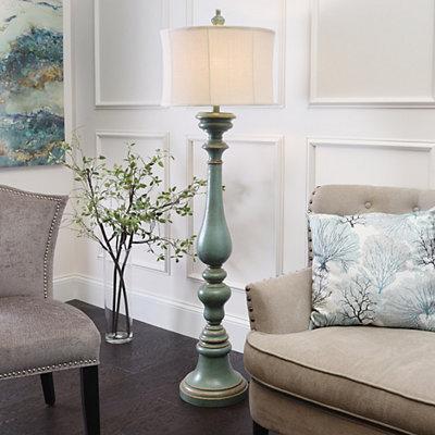 Burks Turquoise Floor Lamp